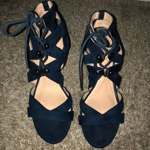 Worn once Blue heels